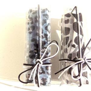 Esarfa cu imprimeu leopard gri sau bleumarin